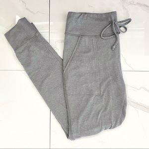 AERIE Pastel Grey Drawstring Skinny Joggers
